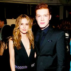 Actors Zoey Deutch and Cameron Monaghan attend Vanity Fair and FIAT Young Hollywood Celebration at Chateau Marmont on February 23, 2016 in Los Angeles, California.