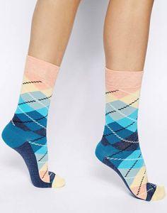 Calze a rombi argyle Happy Socks - FOTO
