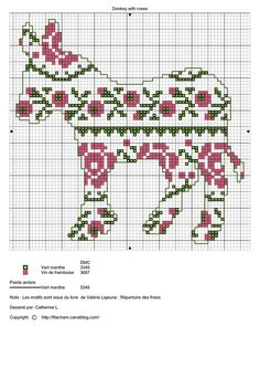 Gallery.ru / Фото #66 - Samplers_&_ornaments_2/freebies - Jozephinav    Series of patterned donkeys.
