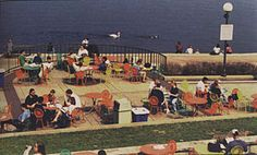 Students on Memorial Union Terrace