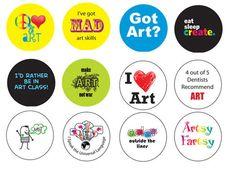 Good idea future art club pins