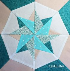 Woven Star Block photo-paper piecing using freezer paper