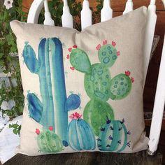 d8a4956b1020 Cactus almohada almohada cubierta de plumas de pato y