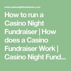 How to run a Casino Night Fundraiser | How does a Casino Fundraiser Work…                                                                                                                                                                                 More