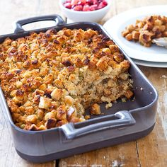 <p>To bring our bread stuffing back to its humbler roots, we subtracted ingredients—and then we had to figure out how to multiply flavor.</p>