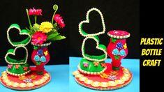DIY - How to Plastic sprite bottle is turned into showpiece - Make flower vase from plastic bottle Plastic Bottle Crafts, Recycle Plastic Bottles, Flower Toe Nails, Recycled Crafts, Diy Crafts, Art For Kids, Crafts For Kids, Basket Crafts, Mini Fairy Garden