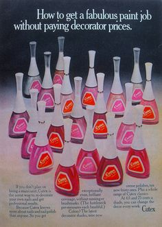 1960s Vintage Cutex Nail Polish Advertisement - I remember these cute little bottles!