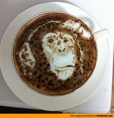 Latte Art: Chimpance.
