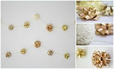 Gift Bow Garland   28 Insanely Easy Christmas Decorations To Make In A Pinch