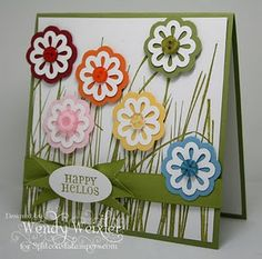 Blossoms Bouquet Triple Layer punch  stems can be drawn on with markers