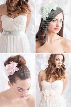 pastel wedding accessories from Tessa Kim