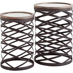 Flank your sofa with these contemporary side tables for an eye-catching living room display, or set one by your bed as a chic nightstand. Contemporary Side Tables, Sofa End Tables, Console Tables, Wooden Tables, Joss And Main, Art Decor, Home Decor, Furniture Decor, Accent Decor