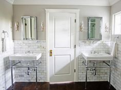 bathrooms - Benjamin Moore - Revere Pewter - gray walls calcutta gold marble subway tiles backsplash Glam master bathroom with gray walls paint Classic Bathroom, White Bathroom, Small Bathroom, Master Bathroom, Marble Bathrooms, Small Sink, Shared Bathroom, Ikea Bathroom, Light Bathroom