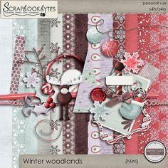 Winter woodlands {kit} :: Mini Kits :: Kits & Bits :: SCRAPBOOK-BYTES