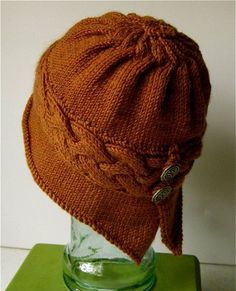 Winfly Cloche Hat Knitting Pattern | Cloche Hat Knitting Patterns, many free knitting patterns at http://intheloopknitting.com/free-cloche-hat-knitting-patterns/