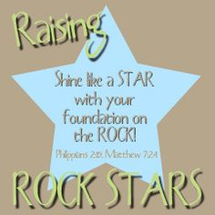 Raising Rock Stars ~ Ideas for teaching about the Bible at home from www.1plus1plus1equals1.net
