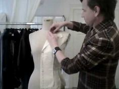TUTORIAL! 4. How to drape a basic ladies' jacket, the notched collar - by bespoke tailor Sten Martin