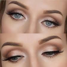 Image result for natural prom makeup for blue gray green eyes