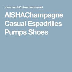 AISHAChampagne Casual Espadrilles Pumps Shoes