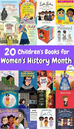 You'll love these books about strong women. Great for kids of all ages to showcase strong women throughout our time. Preschool Books, Book Activities, Preschool Activities, Indoor Activities, Toddler Books, Childrens Books, Strong Women, Strong Girls, Parenting Books