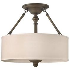 Sussex Collection English Bronze Ceiling Light
