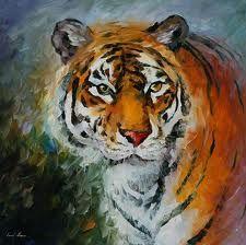 Resultado de imagen para pinturas de tigres pinterest