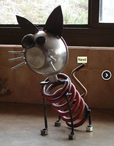 Metal Cat Sculpture / Metal Art / Cat