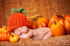 New Item for Fall- Baby Pumpkin Hat