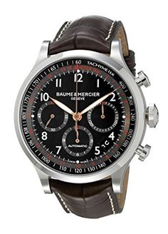 5bd5fcf2550 Baume   Mercier Men s BMMOA10067 Capeland Analog Display Swiss Automatic  Brown Watch Review Best Watches For