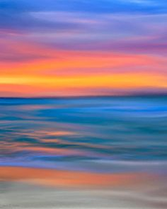 The Call Of Distant Seas Print By Mark E Tisdale - Based on a colorful sunset on the Pacific Ocean coast in California