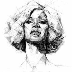 R 💙 ich liebe diese Art von Zeichnung. #geometric#geometricdrawing#joshbryan#riri#rihanna#art#drawing#perfection#sw#beautifuldrawing