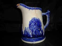 Old-Sleepy-Eye-Pottery-Pitcher-Flow-Blow-8-2-Quart-Original-Old-Antique