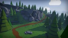 Stylized Low Poly Environment by Mackenzie Shirk in Environments - UE4 Marketplace