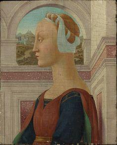 Portrait of a Woman, Piero della Francesca,  31.4 x 25.4 cm (12 3/8 x 10 in.) Tempera on panel, MFA Boston