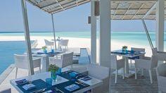 Lunch at Blue.  Blue with a view!  Four Seasons Landaa Giraavaru, #Maldives.