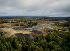From @rob.hys  Lots on the go at the site of the old Moose River Gold Mine. Construction of haul roads a smelting facility and even a new memorial park are well under way. After 10 years of extraction this mine along with four others surrounding it are expected to bring $1 billion USD worth of gold to markets. #mining #surveyor #goldmine #ethicalmining #novascotia #canada #industry #azimuthconsulting #gold #mooseriver #musquodoboit #halifax #canada