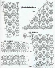 It's simple, free and blazing fast! Crochet Diagram, Crochet Chart, Crochet Stitches, Knit Crochet, Crochet Patterns, Pineapple Crochet, Ao Dai, Ladies Boutique, Crochet Clothes