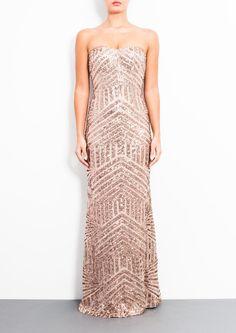 Forever Unique Celine Dress in Rose Gold