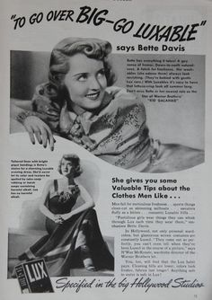 0 Bette Davis 1937  Lux Laundry Soap Ad