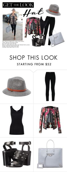 """""""Get the Look: Hat Edition -- Contest"""" by nfashx ❤ liked on Polyvore featuring Genie by Eugenia Kim, STELLA McCARTNEY, Hanro, Balmain, McQ by Alexander McQueen and Balenciaga"""
