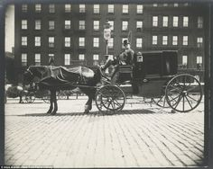 'Street Types of New York': Photographer's amazing look at turn-of-the-century Manhattan New York Taxi, New York City, The Bowery Boys, Louis Vuitton Luggage, Horse And Buggy, New York Photographers, New York Street, New York Public Library, Bass