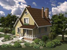 House plan by AkvilonPro: ''RUSANOVKA'' 83 sq.m  The mansard three-bedroom house
