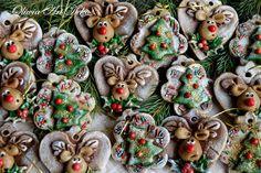 Oliwia Art Deko Christmas Ornaments To Make, Christmas Wreaths, Christmas Crafts, Christmas Decorations, Xmas, Holiday Decor, Biscuit, Salt Dough Ornaments, Pasta Flexible