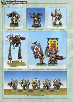 "fuckyeahbritisholdschoolgaming: ""'Eavy Metal from Warhammer 40,000 2nd edition. 1993. (Do they still call it it 'Eavy Metal and if so, why?) We're not quite into the full-on ""red period"" here but a..."