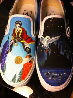 Custom Hand Painted Shoes $80 etsy...you supply the shoes