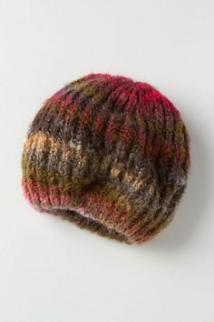 Striated Slouch Beret #anthropologie---- love the fall colors!