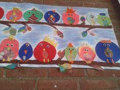 vogels in de boom als groepswerk