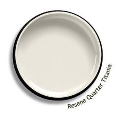 Resene Quarter Titania is an off-white, slightly influenced by bone and ashen undertones. Try Resene Quarter Titania with fusion greys, flaxen greens or dark greens, such as Resene Fifty Shades, Resene Organic or Resene Ruck N Maul. From the Resene The Range fashion colours 18. Latest trends available from www.resene.com/range18. Try a Resene testpot or view a physical sample at your Resene ColorShop or Reseller before making your final colour choice.