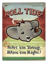 Roll Tide Girls | Atlanta Vintage Travel - Alabama Roll Tide Girl