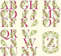 Alphabet Fleuri -